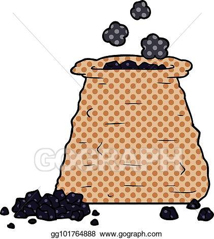 Coal clipart bag coal. Vector stock cartoon sack