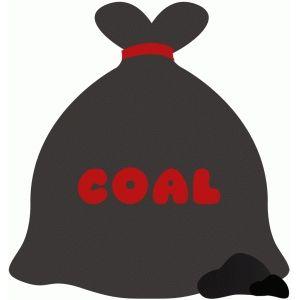 Coal clipart christmas. Silhouette design store bag