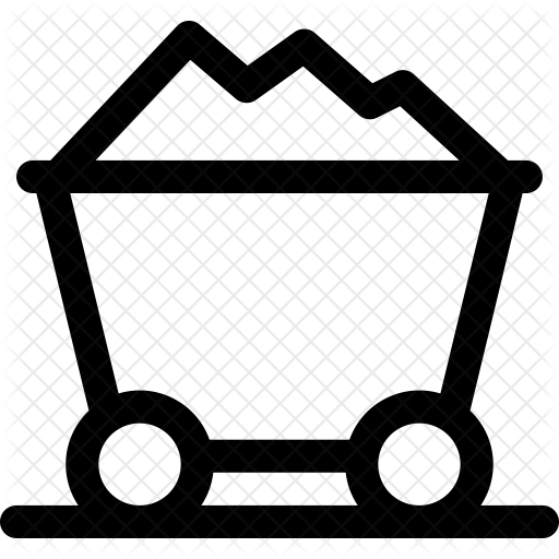 Icon . Coal clipart coal cart