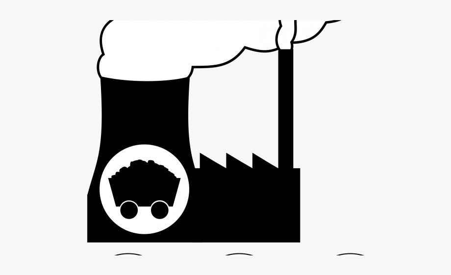 Power plant icon . Coal clipart coal factory