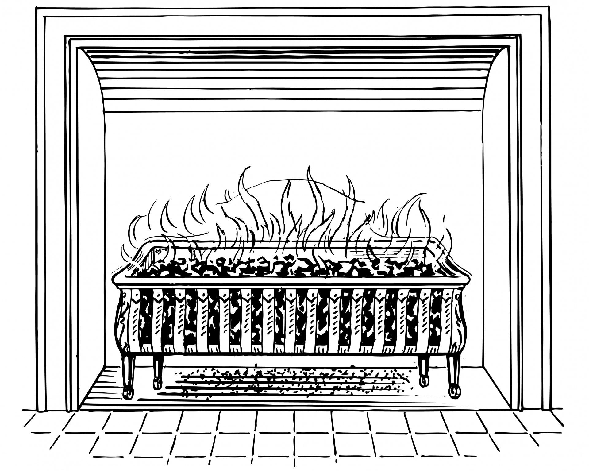 Grate hearth free photo. Coal clipart coal fire