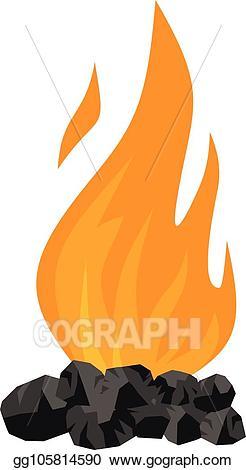 Eps vector icon flat. Coal clipart coal fire