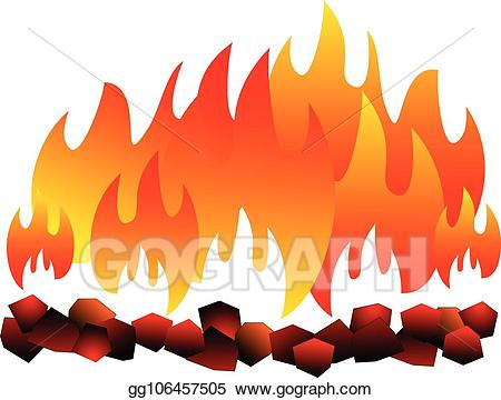 Coal clipart coal fire. Eps vector burning isolated