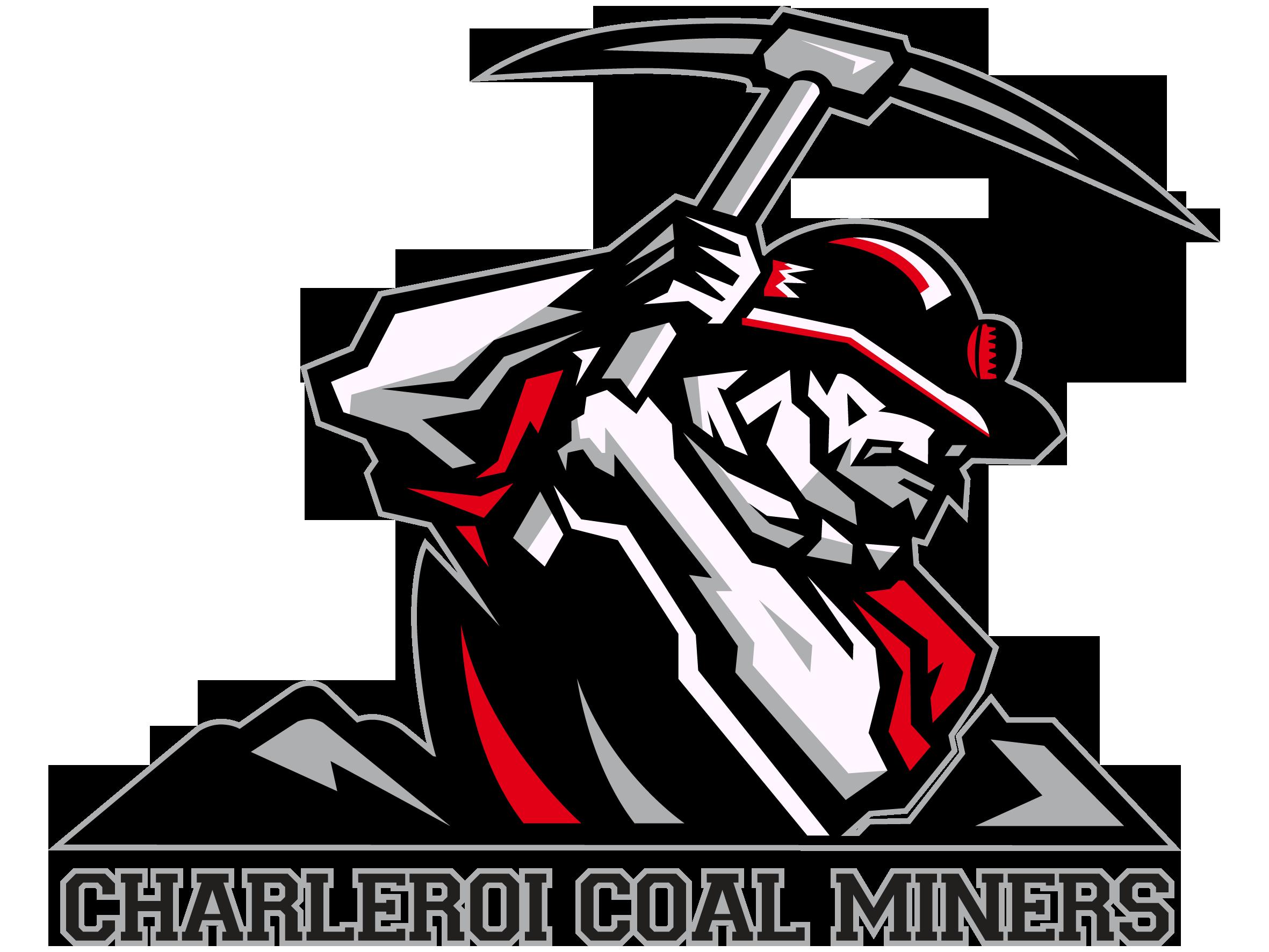 Coal clipart coal miner. Logo charleroi miners coalminers