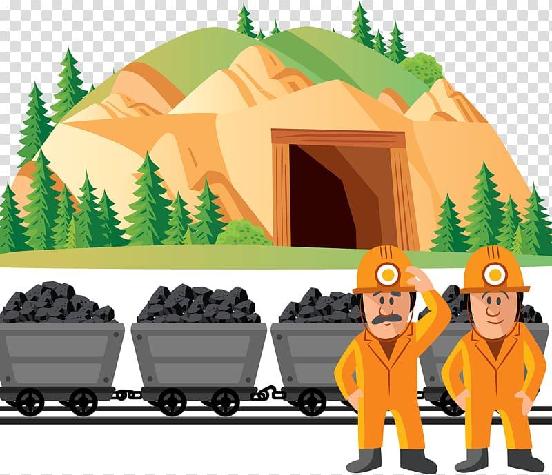 Coal clipart coal miner. Mining mine illustration transparent