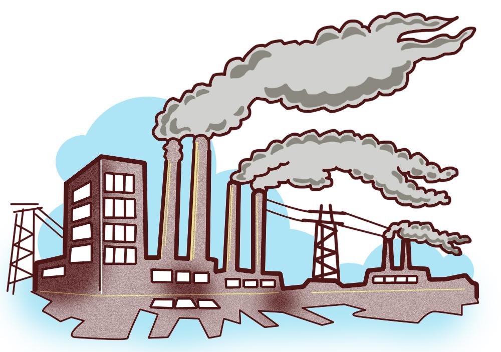 Coal plant clip art. Electricity clipart power house