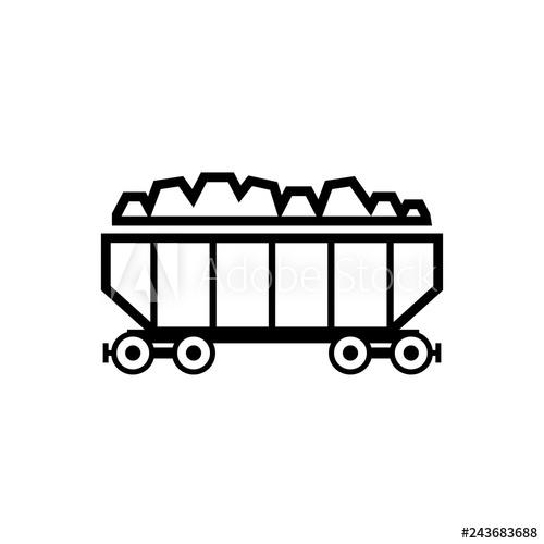 Coal clipart coal train. Wagon outline icon image