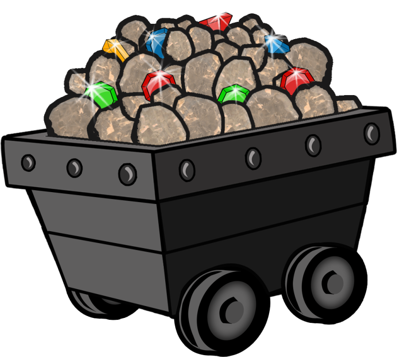 Minecart ourclipart pin . Coal clipart mine cart