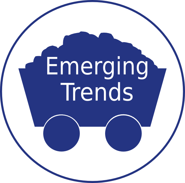 Emerging trends clip art. Coal clipart mine cart