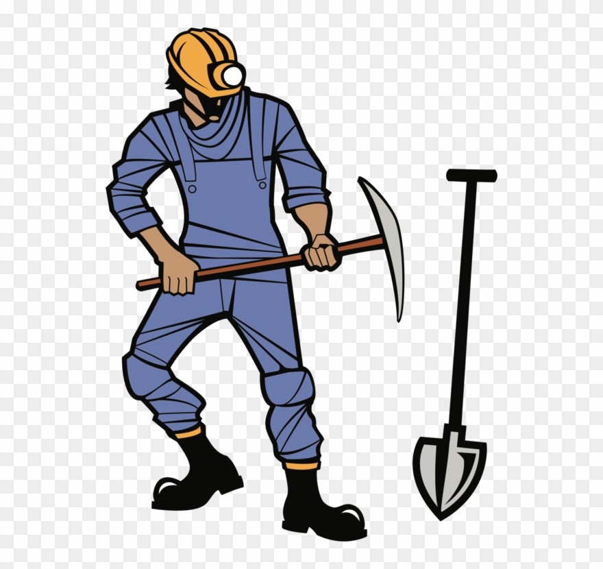 Coal clipart mine worker. Mining miner pickaxe clip