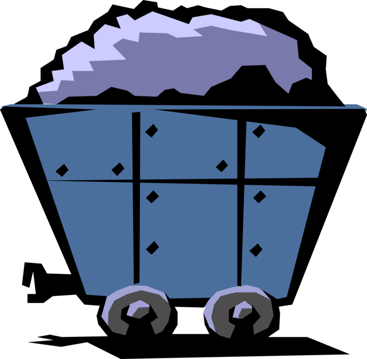 Mineral wagon or coal. Industry clipart fossil fuel