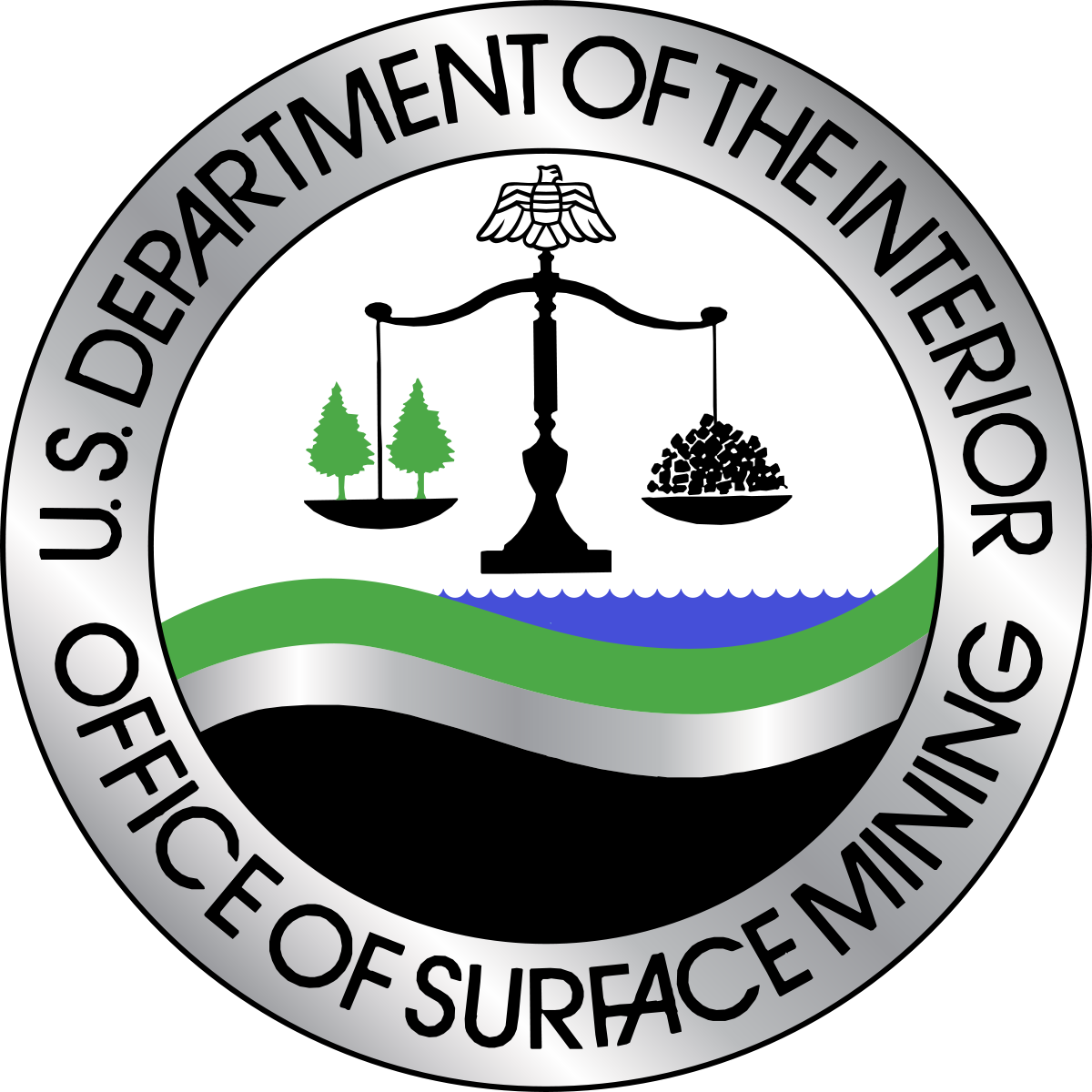 Office of surface mining. Retro clipart enforcement