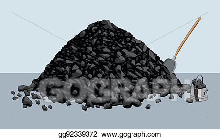 Drawing gg gograph . Coal clipart pile coal