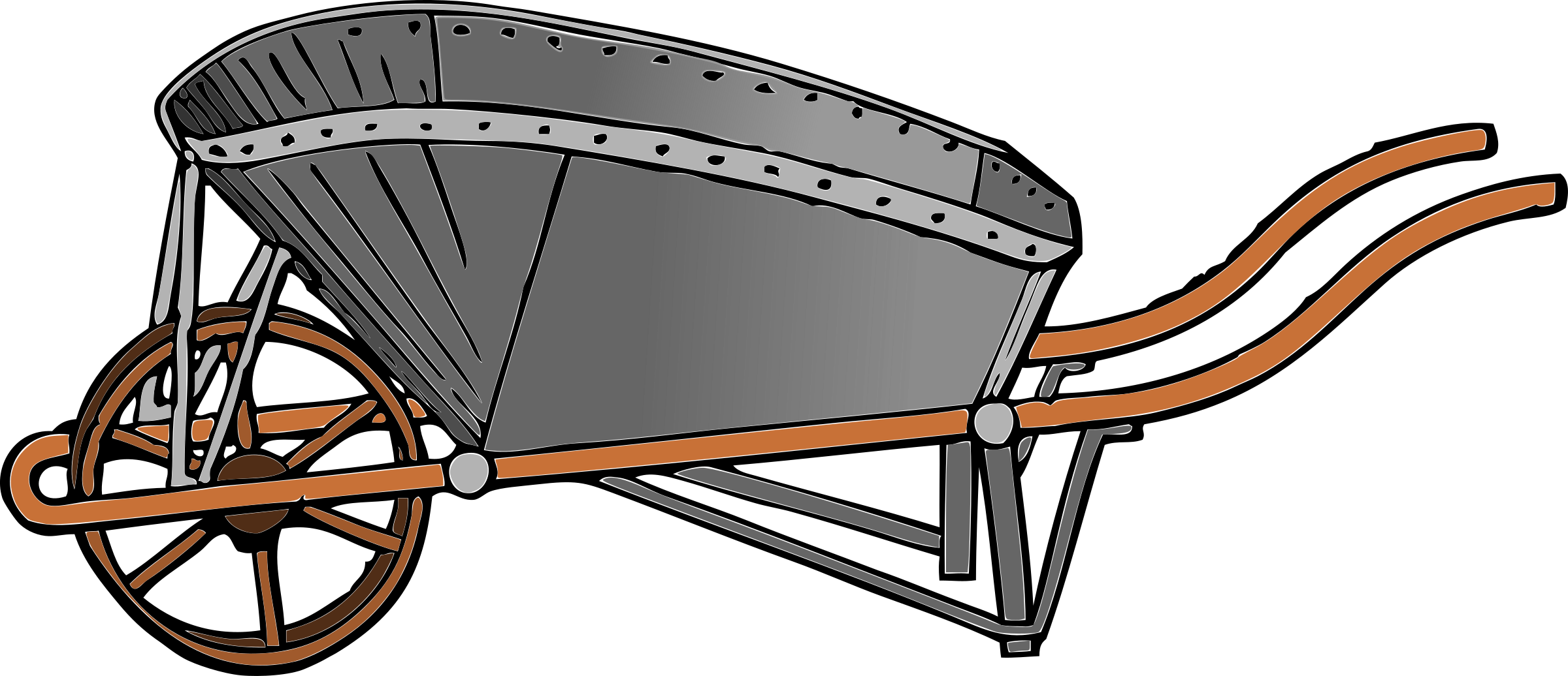 Coal barrow color big. Wagon clipart oxcart