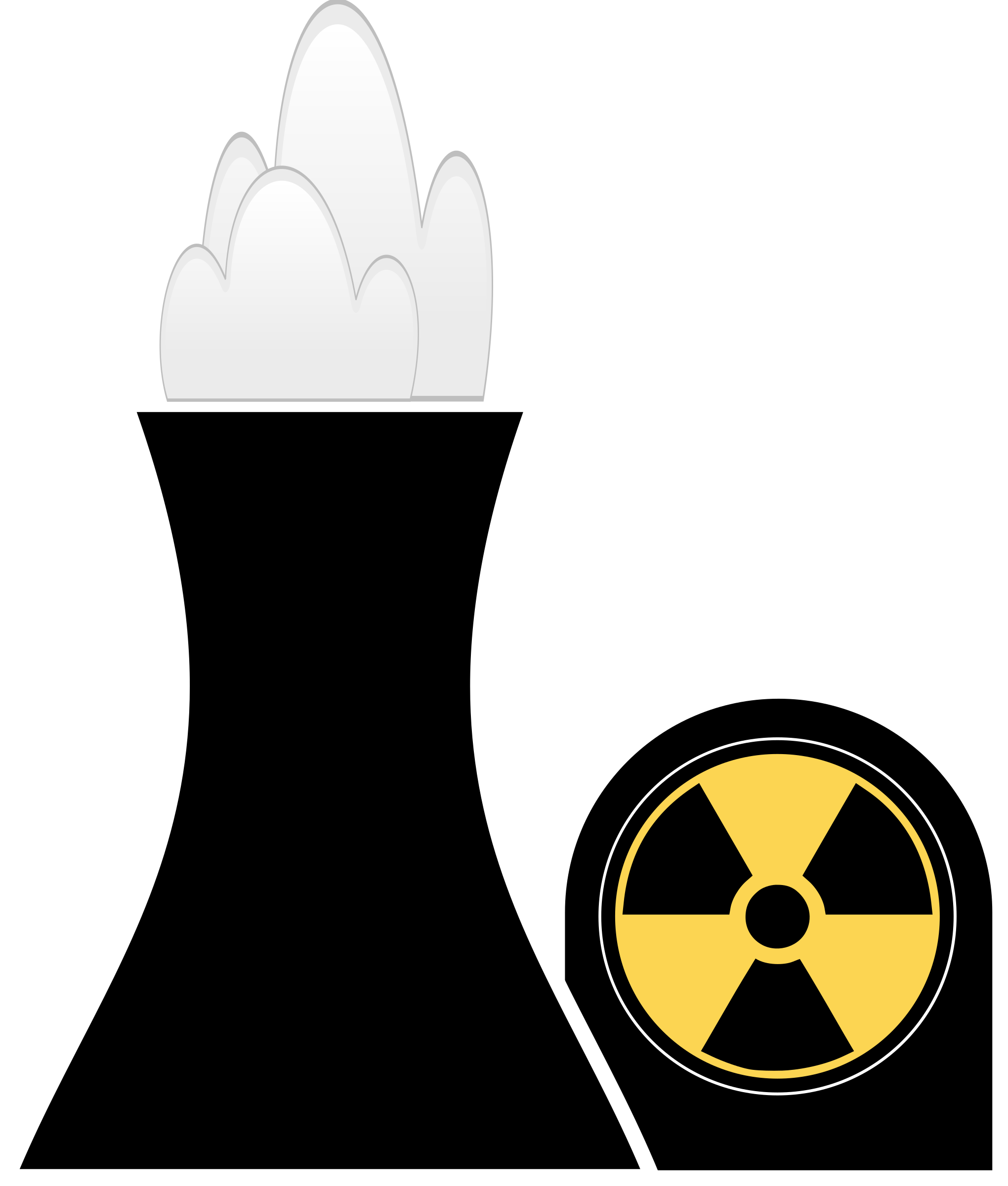 Coal clipart svg. Nuclear plant black big
