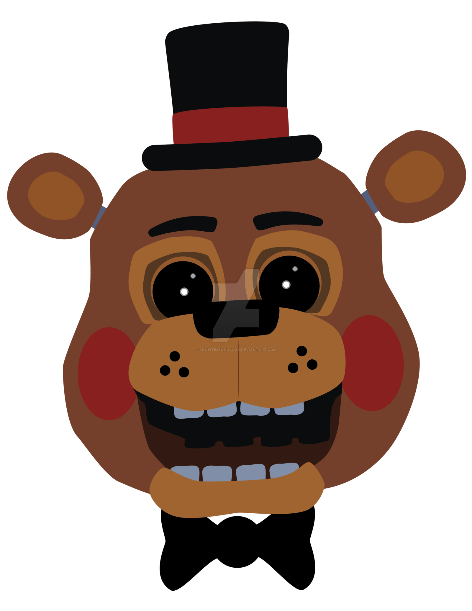 Toy freddy by showtimeandcoal. Coal clipart vector
