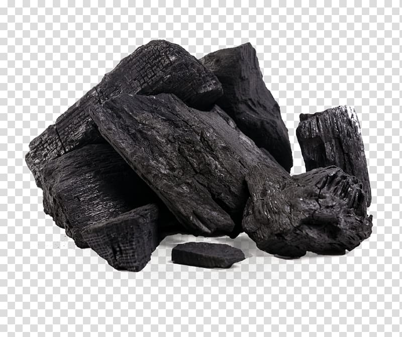 Charcoal activated carbon briquette. Firewood clipart bunch