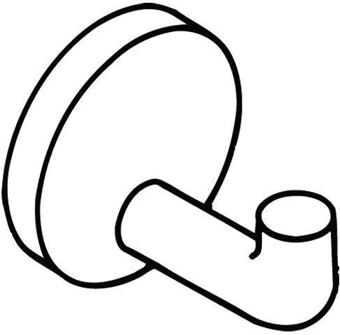 Hook clipart coat hook. Black circle white line