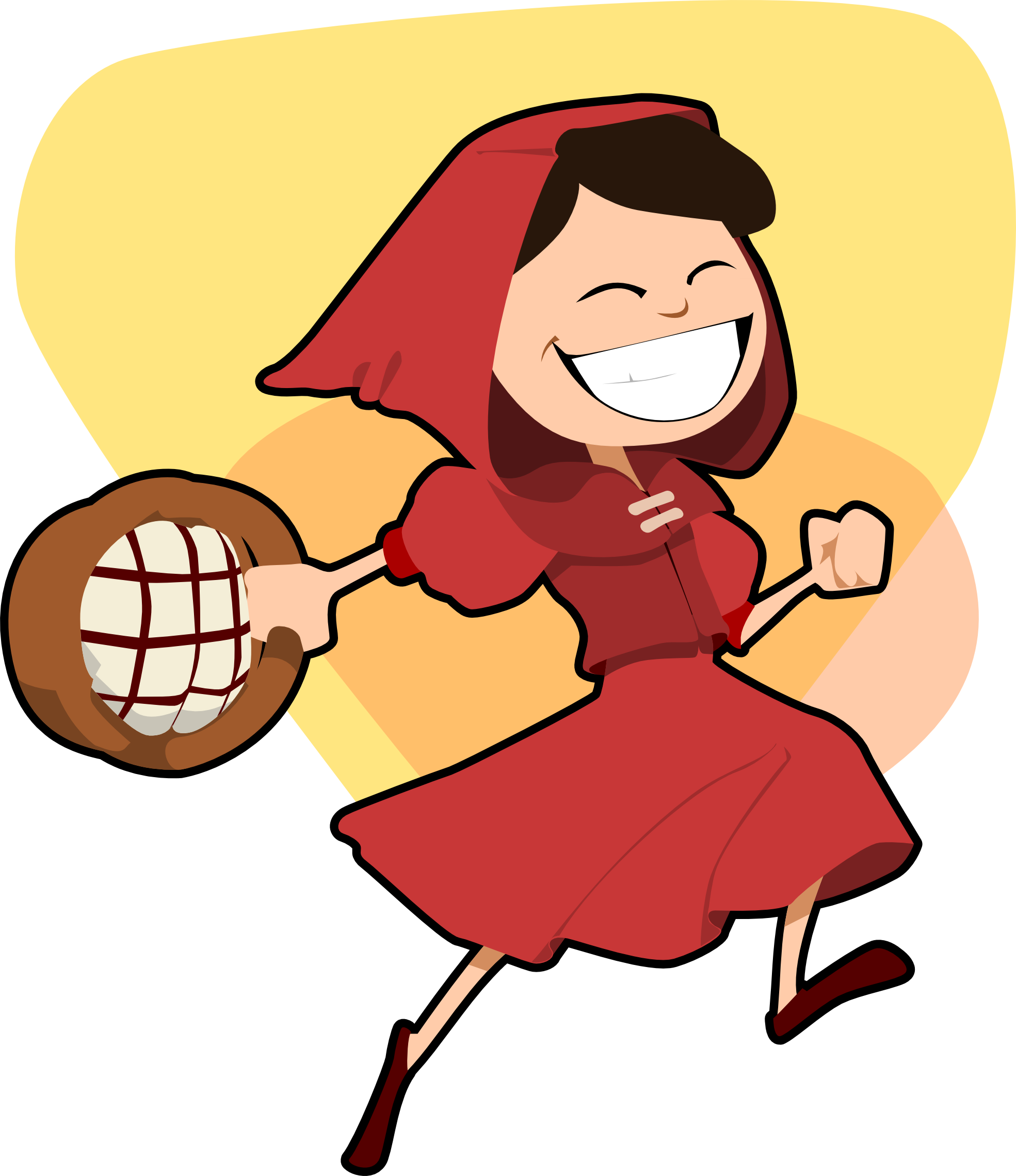 collection of red. Wolves clipart grandma