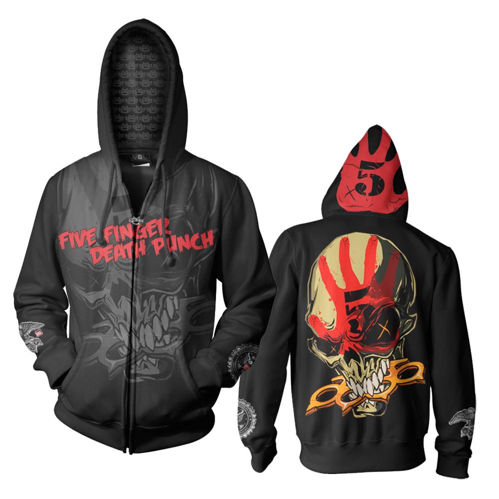 Knucklehead custom five finger. Hoodie clipart zip hoodie