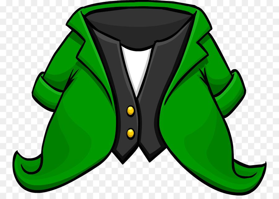 Green background graphics font. Leprechaun clipart coat