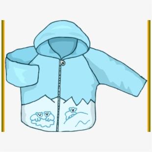 Coat hood jacket . Winter clipart outerwear