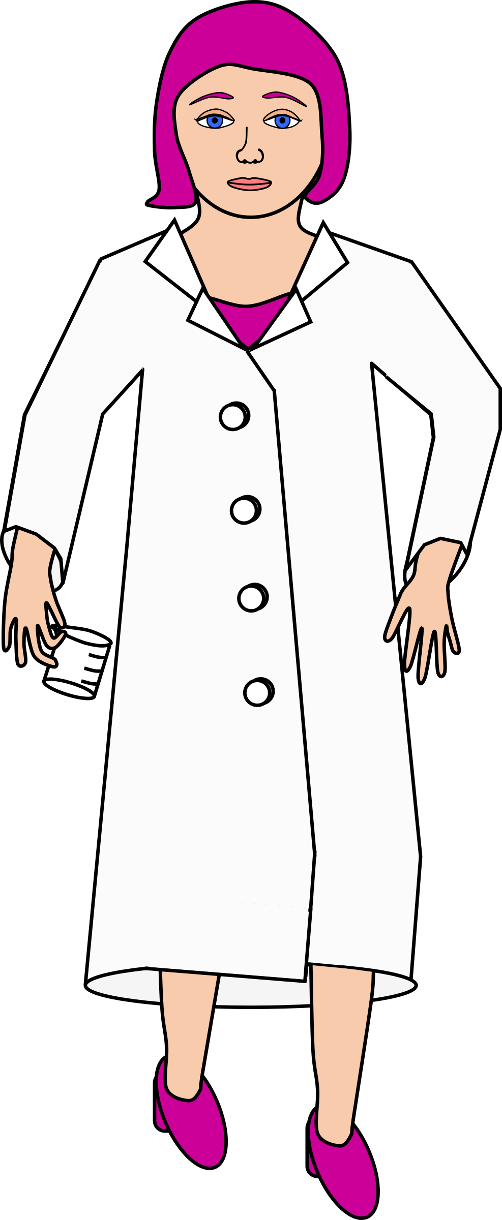 With purple big image. Hair clipart scientist
