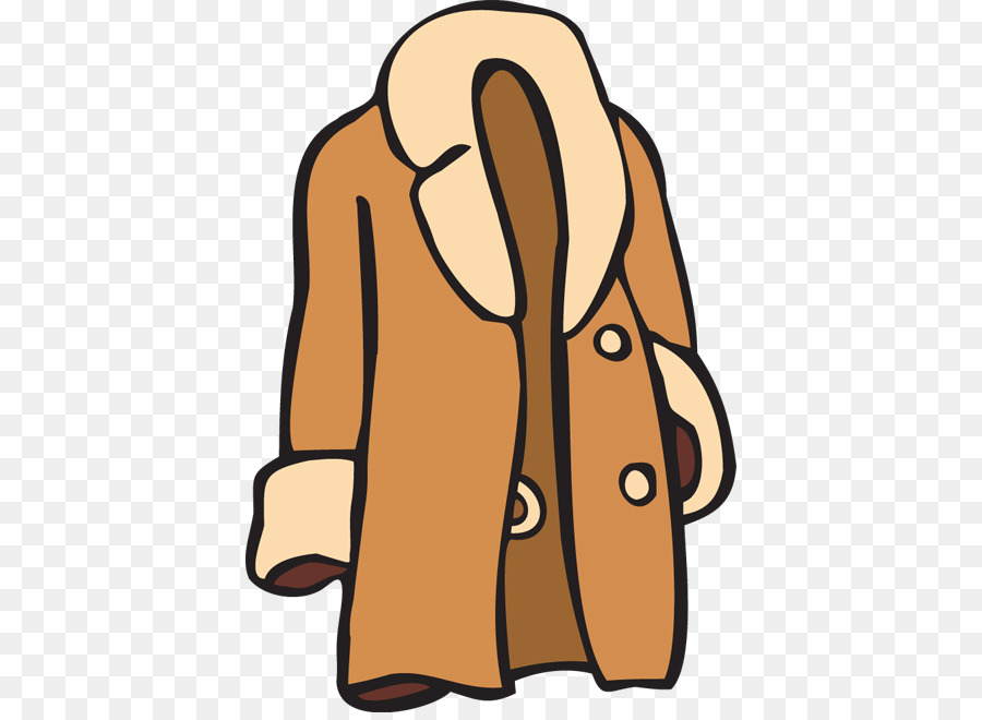 Winter clothing jacket clip. Clipart coat