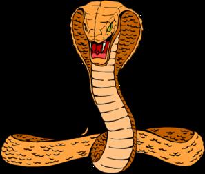 Orange clip art at. Cobra clipart