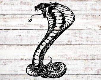 Etsy svg files snake. Cobra clipart