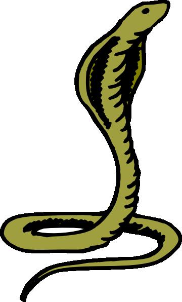 Green clip art at. Cobra clipart