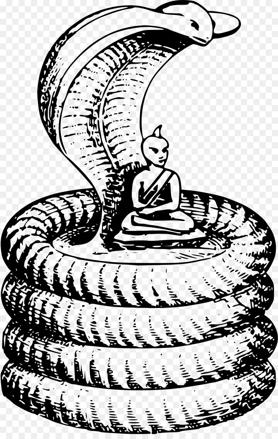 Cobra clipart. Snake buddhism clip art