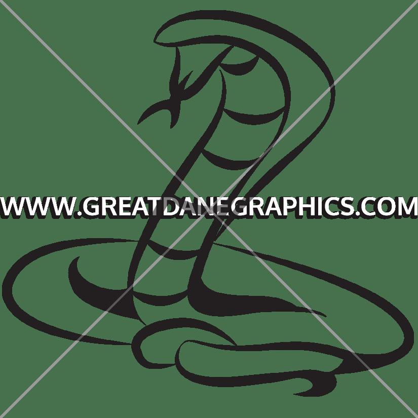 Cobra clipart black and white. Mascot production ready artwork