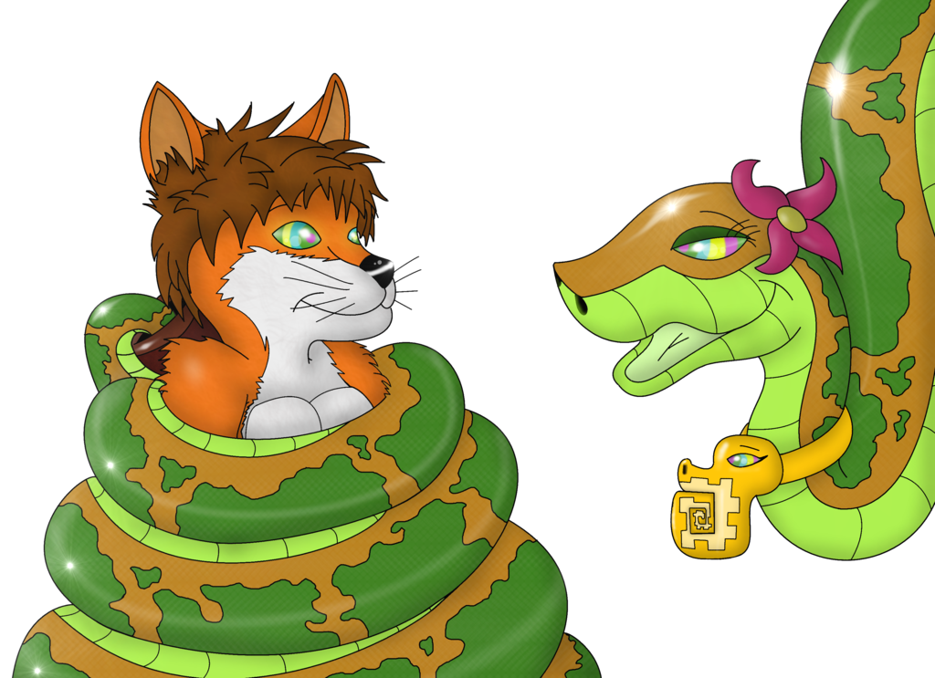 Gift the fox and. Cobra clipart coiled snake