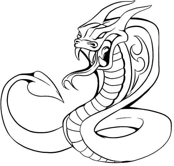 King pages color . Cobra clipart coloring page