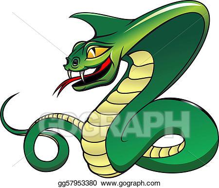 Clip art vector danger. Cobra clipart dangerous snake