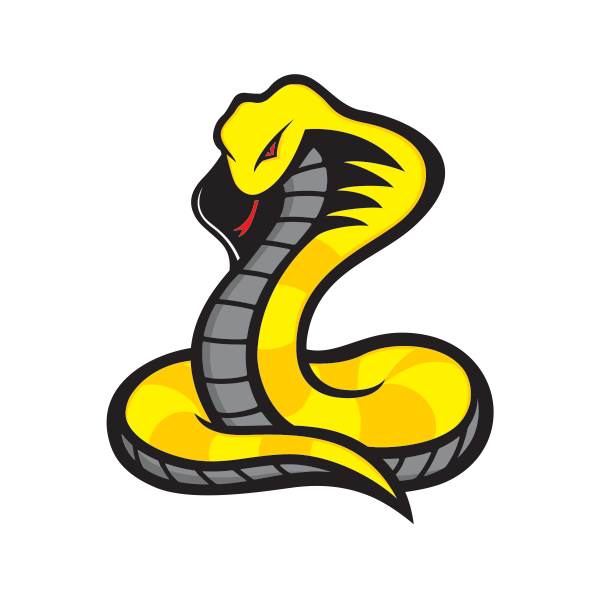 Cobra clipart dangerous snake. Printed vinyl yellow stickers