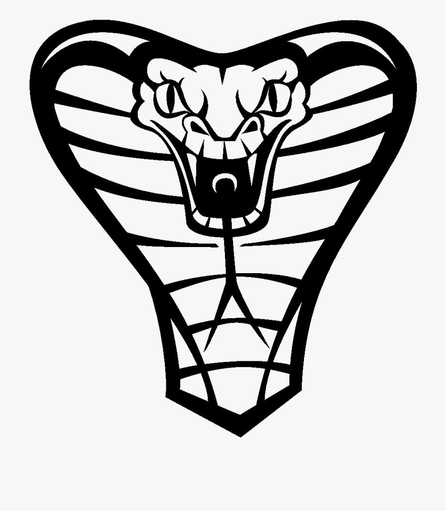 Black and white snake. Cobra clipart drawn