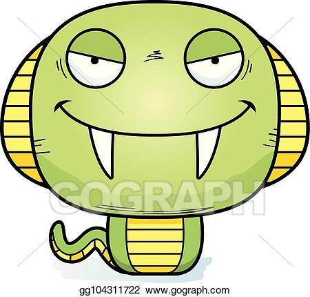 Eps illustration cartoon vector. Cobra clipart evil