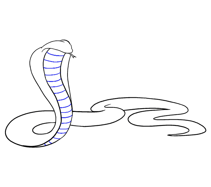 cobra clipart hood open