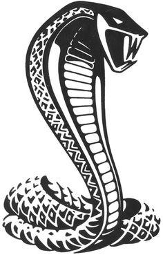 Cobra clipart mustang cobra.  best stencils images