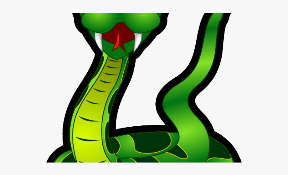 King cobra green . Snake clipart poisonous snake