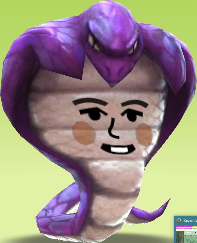 Cobra clipart purple. Prickly husband miitopia wiki