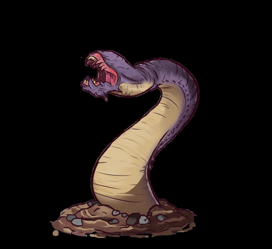 Worm by alorix on. Cobra clipart purple