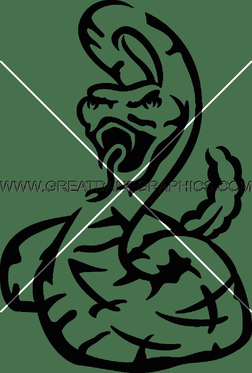 Production ready artwork for. Cobra clipart rattle snake line