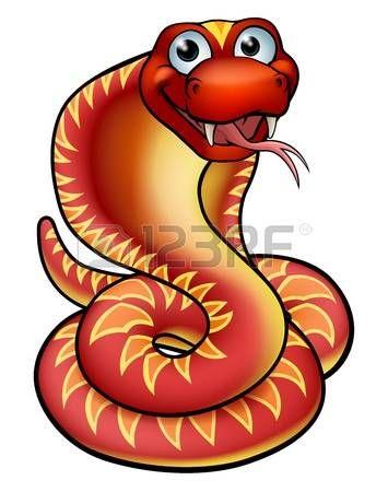 Orange a friendly cartoon. Cobra clipart red cobra