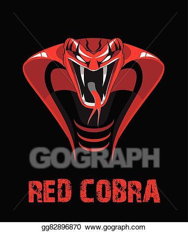 Cobra clipart red cobra. Vector stock eps clip
