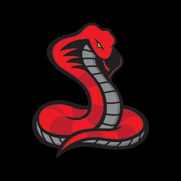 Printed vinyl stickers factory. Cobra clipart red cobra