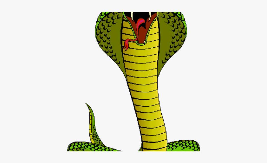 Cobra clipart scary snake. Viper vicious king cartoon