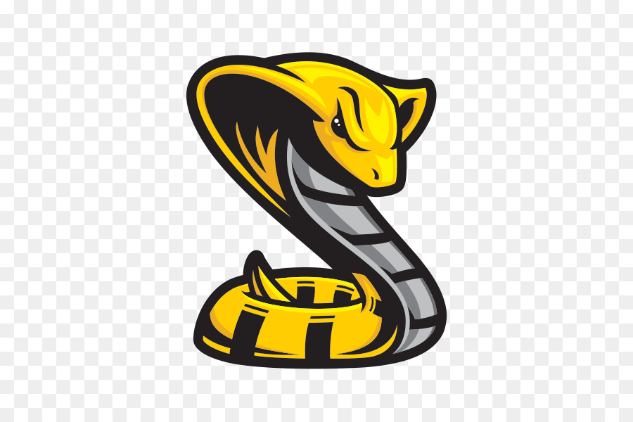 Cartoon snakes illustration yellow. Cobra clipart spitting cobra